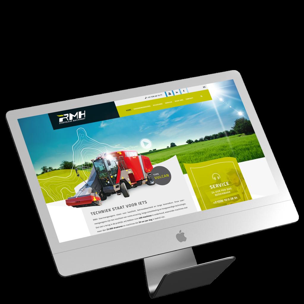 RMH voermengwagens - webdesign